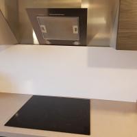 Fond de hotte Aluminium Blanc Signalisation RAL 9016 sur mesure alucouleur