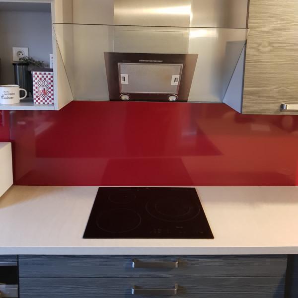 Crédence Aluminium Rouge Pourpre RAL 3004
