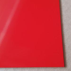 Plaque Aluminium Rouge Signalisation Ral 3020 sur mesure