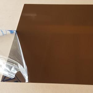 Plaque Aluminium Brun Sépia Ral 8014 sur mesure