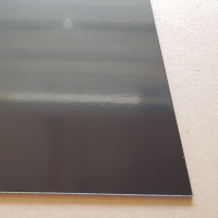 Plaque Aluminium Brun Gris Ral 8019 sur mesure - credence - fond de hotte