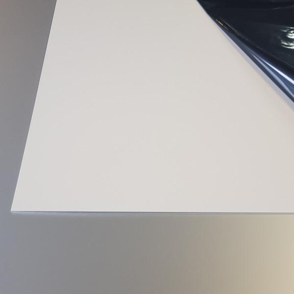 Plaque Aluminium BLanc Crème Ral 9001 sur mesure
