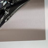 Plaque Inox Brossé 1 mm sur mesure pour fond de hotte, credence, protection de murs...