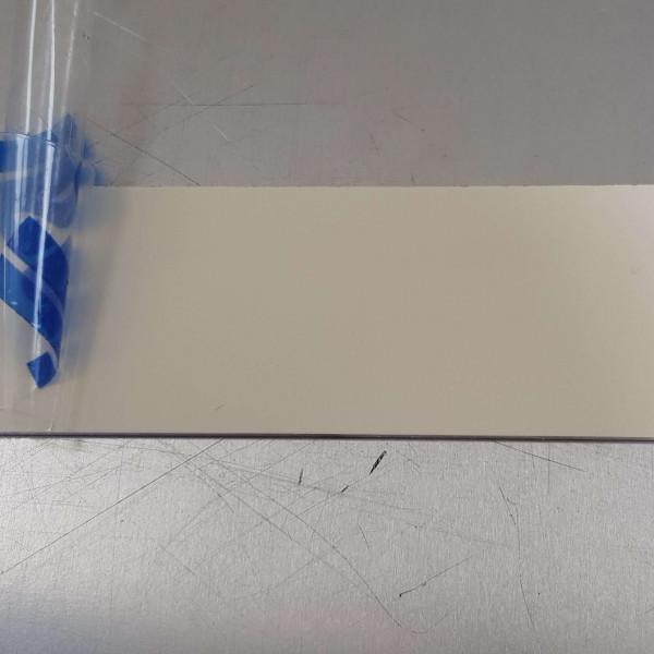 echantillon fond de hotte cr dence alu blanc perl ral 1013 1 5 mm. Black Bedroom Furniture Sets. Home Design Ideas
