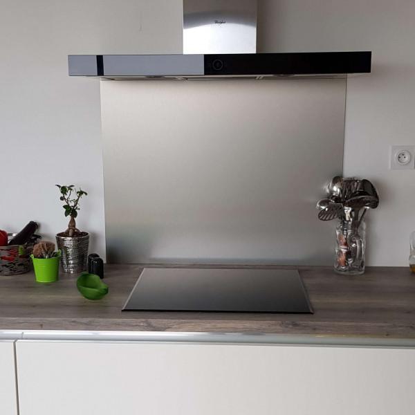 Crédence Composite Aluminium Brossé