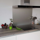 Fond de hotte Composite Aluminium Brossé