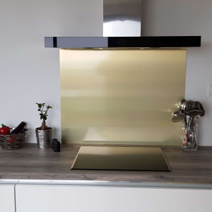 Crédence Aspect OR Brossé en Aluminium composite