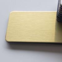 Échantillon Composite Aluminium Aspect Or Brossé
