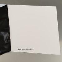 Plaque aluminium RAL 9010 Brillant