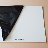 Plaque aluminium RAL 9010 Mat